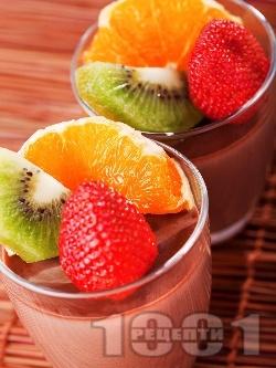 Шоколадов крем с плодове - снимка на рецептата